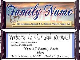 family reunion favors personalized candy bar famiy reunion favors