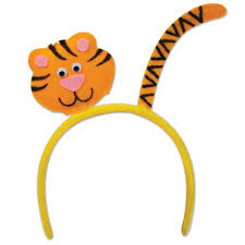 tiger headband 12ct beistle tiger headband bulk party supplies