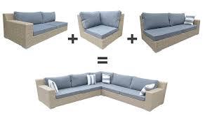 canape resine tressee exterieur canapé d angle de jardin en résine tressée 5 places