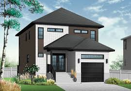 modern home house plans modern home for a narrow lot drummond house plans