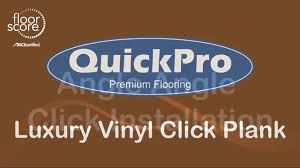 how to install quickpro premium luxury vinyl click plank flooring
