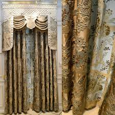 Curtain Style New Dubai Luxury Magnetic Curtain For Living Room Golden