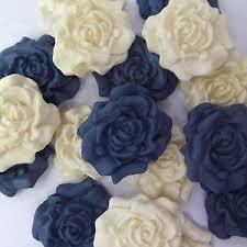edible blue flowers 12 blue sugar roses edible sugarpaste flowers wedding