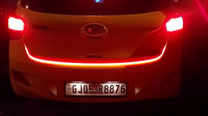 Led Strip Tail Lights by Flow Led Strip Trunk Light Make Your Car Look More Cool Youtube