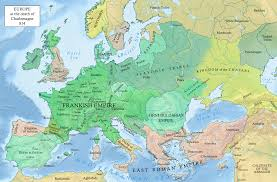 Scandinavia Blank Map by Situation In Europe After The Death Of Emperor Charlemagne 814