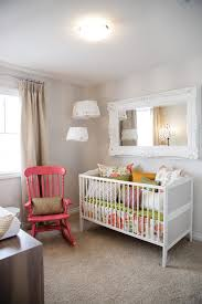 decorating crib nursery shabby chic style with girls room rocking