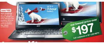 target black friday 2011 acer ao722 0473 laptop is on sale in early target black friday sale