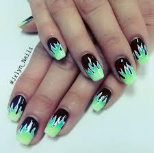 nail art o breathtaking vegas nail art photo ideas flame and