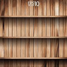 Bookshelf Background Image Wooden Bookshelf Background Vector 02 Vector Background Free