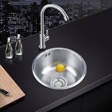 evier rond cuisine neuf 41 41 20cm evier de cuisine auge à eau rond inox avec