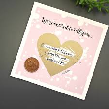 baby announcement personalised baby announcement scratch card by posh totty designs
