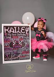 minnie mouse first birthday chalkboard 1st birthday