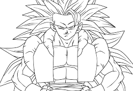 gogeta coloring pages funycoloring