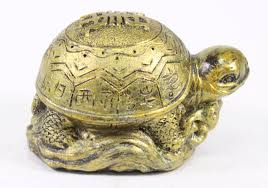 3 u0026 034 gold feng shui lucky turtle statue figurine paperweight