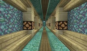 Minecraft Deco Interieur by Birch Sandstone And Prismarine Blocks Look Pretty Together