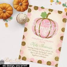 pumpkin invitation our little pumpkin birthday invitation gold