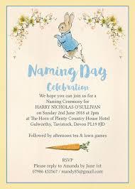rabbit invitation rabbit naming day ceremony invitation from 0 80 each