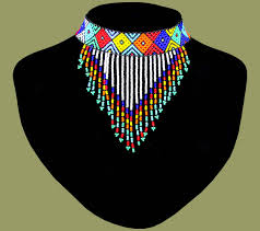 african beads necklace images African beaded necklace choker tassel zulu african0374 african jpg