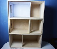 build a front opening doll house or dollhouse bookcase