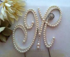 pearl monogram cake topper curly pearl monogram cake topper font 2 high quality wood