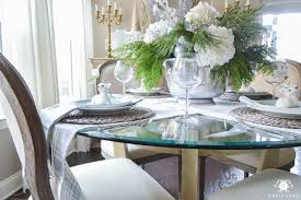 Ice Blue Christmas Table Decorations by Christmas Dining Table Decorations Good Mouth Watering Christmas