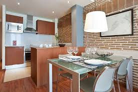 kitchen charming brick kitchens with mirrored shelves and