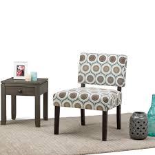 simpli home virginia brown and grey fabric slipper chair axcchr