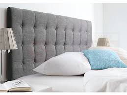 King Size Fabric Headboards by King Size Upholstered Fabric Bed Head Maddison Collection Grey