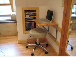 small and easy diy wood wall mounted folding computer desk design
