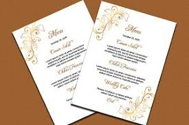 wedding menu cards template wedding menu template stationery templates creative market