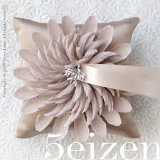 wedding ring pillow bloom series pale taupe wedding ring pillow by 5eizen