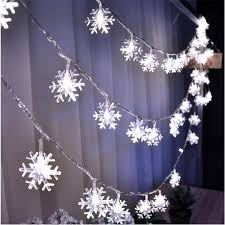 snowflake string of lights 10m 50 led snowflake string fairy lights new year xmas party wedding