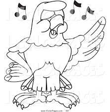 royalty free stock coloring page designs of hawk cartoon characters