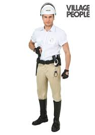 Construction Worker Costume Plus Size Village People Police Costume