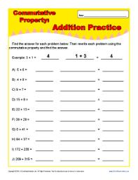 printables commutative property of addition worksheets 3rd grade