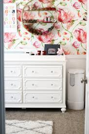Home Decor Mom Blogs by Modern Floral Baby Nursery Positively Oakes