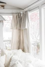 Diy Cheap Curtains Diy Drop Cloth Curtains In The Sunroom Liz
