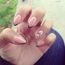 simple pointy nail design nail designs pinterest pointy