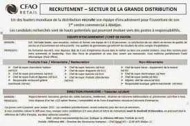 carrefour siege social recrutement cfao carrefour recrute pour abidjan le supply chain de