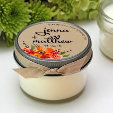 fall wedding favors candle fall wedding favors fall bouquet label design