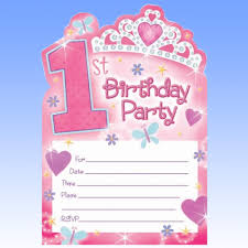 20 u0027s pink 1st birthday princess party invitations ebay