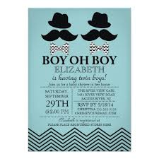 personalized twin boys baby shower invitations