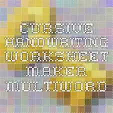 customized handwriting worksheets worksheets