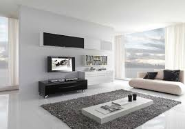 interior interactive living room in white nuance using white