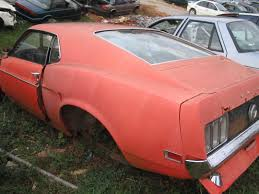 mustang salvage yard what s this worth 70 mustang in junk yard vintage mustang forums