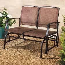 the breathable mesh outdoor glider bench hammacher schlemmer