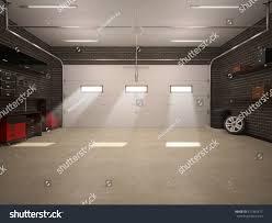 3d illustration garage interior stock illustration 377332477 3d illustration of garage interior