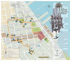 San Francisco Walking Map by The Armada Of Golden Dreams Buried Ships Beneath San Francisco