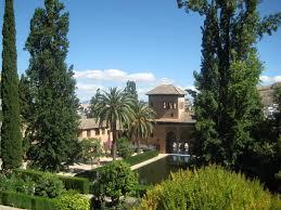 Inside Garden by Spain Alhambra Inside Garden View