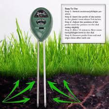 kkmallâ 3 in 1 soil moisture sensor meter ph acidity tester and